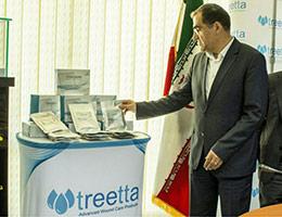 رونمایی وزیر محترم بهداشت از پانسمان ماتریکس کلاژن طبادرم ®TEBADERM